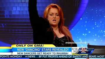 Five-time Grammy winning country star and New York Times bestselling author Wynonna Judd.She is teamed up with Tony Dovolani.