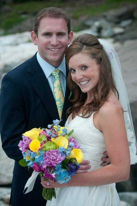 Maggie with her husband, Drew, on their wedding day, June 26, 2010. Loucks, who is a nurse practitioner, was recently diagnosed with breast cancer and is in treatment.