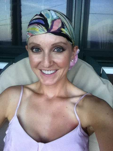 """The day after she finished radiation: """"I don't know if I could smile any more than I am in this photo."""""""