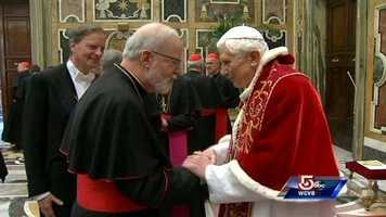 Before heading to his home at Castle Gandolfo, the pope greeted Cardinals for the last time as pontiff at the Vatican.