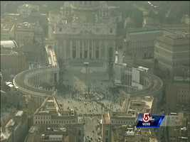 A look at St. Peter's Square prior to the pope leaving the Vatican.
