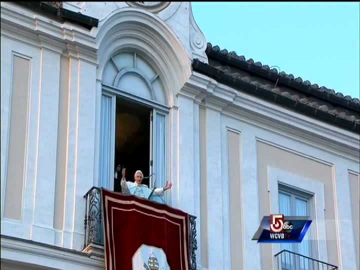 "Pope Benedict XVI greets the faithful for the last time as pope, telling well-wishers gathered at the Vatican's vacation retreat that he is beginning the final stage of his life as a ""simple pilgrim."""