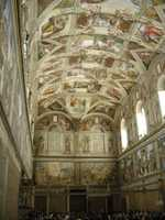 The ceiling of the chapel is 68 feet from the floor