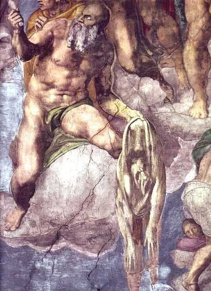 St Bartholomew displaying his flayed skin (a portrait by Michelangelo) in the Last Judgement