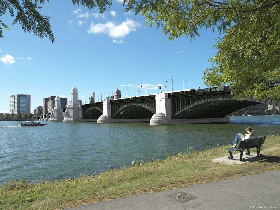 View of the Longfellow Bridge from the Esplanade