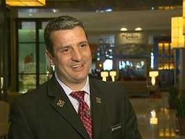This is the Intercontinental's Chief Concierge, Marc Simoneau.
