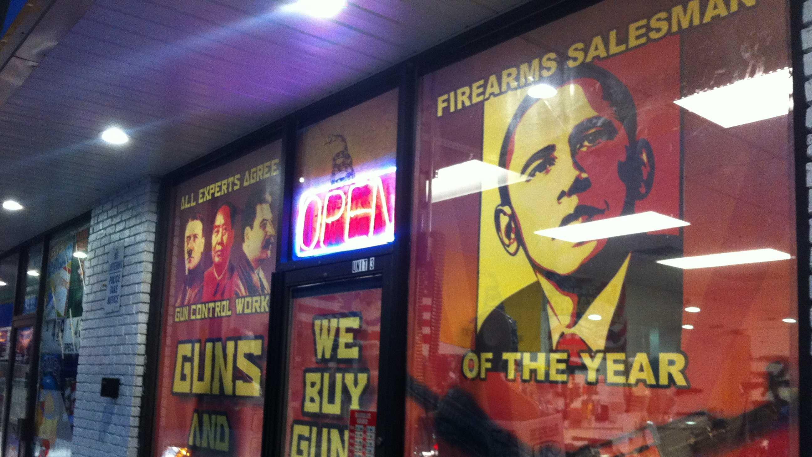 Merrimack Gun shop poster
