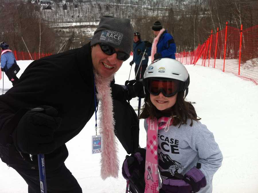 NewsCenter 5's Kelley Tuthill snapped this picture of husband Brendan and 9-year-old daughter Maddie. This year was Maddie's first Briefcase Race.