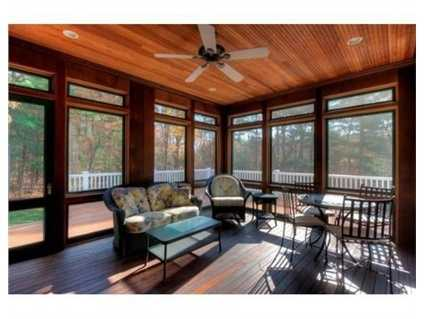 There are two screened in porches.