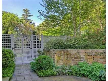 Stone walls surround the property.