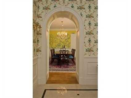 The home features arched door frames.