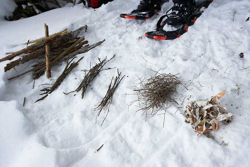 Never sleep directly on the ground. Lay down some pine boughs, grass, or other insulating material to keep the ground from absorbing your body heat.