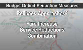T officials outlined for a state Department of Transportation panel some possible scenarios for closing a projected $140 million deficit for the July 1st fiscal year.The agency is looking at three potential plans.