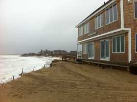 This home on Freeman Road in Sandwich may not make it through Friday's high tide, according to a developer.