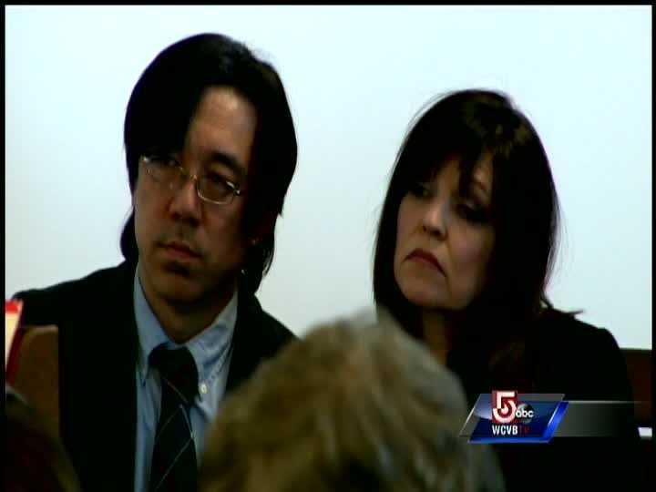 The parents of Nathaniel Fujita, Tomo and Beth Fujita, prior to sentencing.