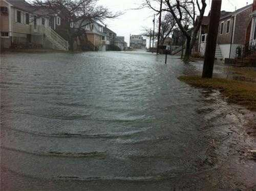 Streets flood in Scituate.