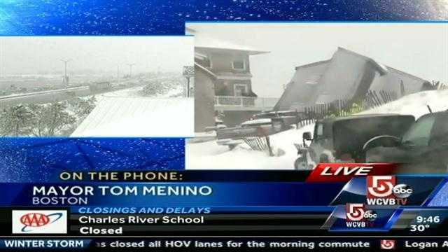 Boston Mayor Tom Menino explained to NewsCenter 5 his decision to leave schools open Friday during the winter storm.