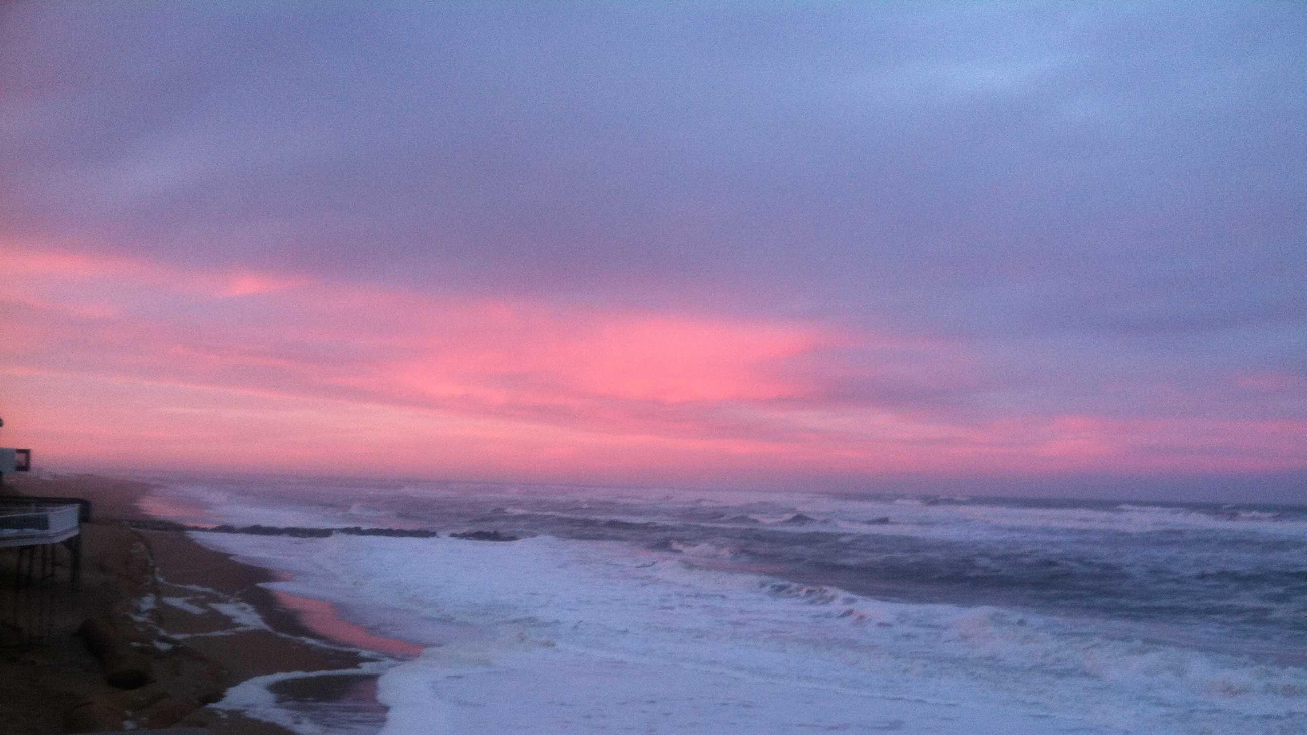 Storm sunset