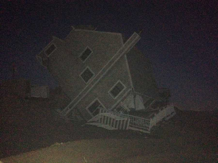 Overnight, a second home collapsed onto the beach of Plum Island.
