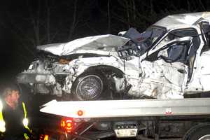 The crash took place on Route 44 near Everett Street around 9:15 p.m.