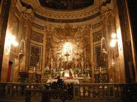 """The church was of relatively minor significance in Rome until it became a central location in Dan Brown's book """"Angels and Demons"""""""