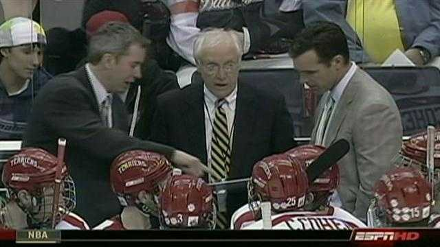 Longtime Boston University hockey coach Jack Parker announced on March 11 that he would step down.