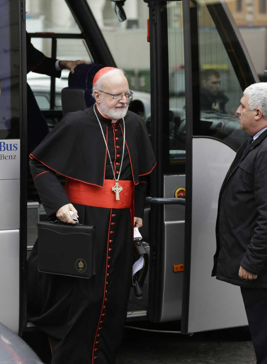 March 6, 2013: O'Malley arrives for a cardinals' meeting, at the Vatican.