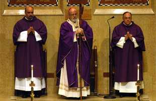 April 1, 2006, at St. Theresa of Avila in the West Roxbury. The Mass at St. Theresa's is O'Malley's first since being elevated to the position of cardinal.