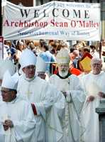 July 30, 2003: Bishop Sean O'Malley is welcomed.