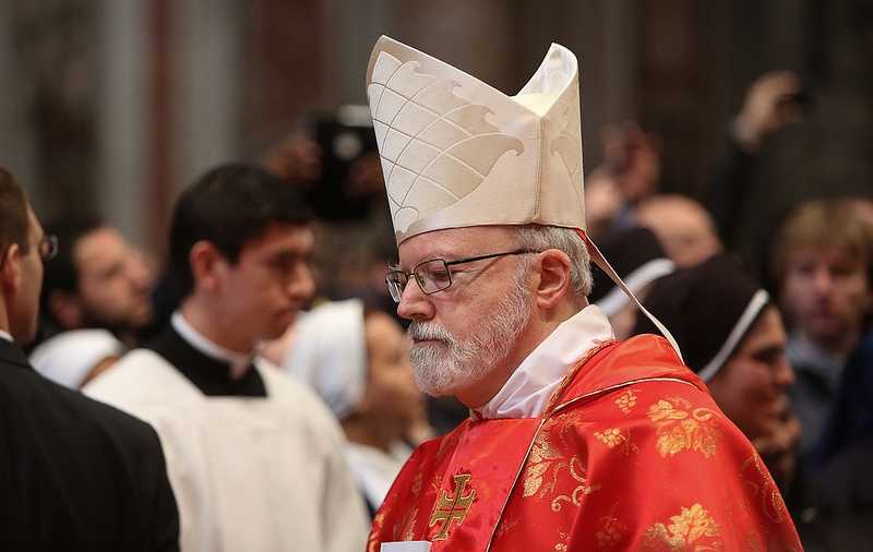 Cardinal Sean O'Malley is seen at the mass preceding the first day of Papal Conclave Meetings on March 12, 2013.