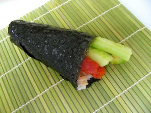 Think veggie sushi has fewer calories?