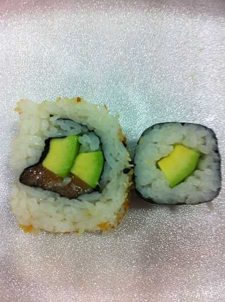 Yahoo! says an eight piece serving of an avocado-and-cucumber roll has 400 calories and 11 grams of sugar -- more than a McDonald's Premium Bacon Ranch Salad with Crispy Chicken.