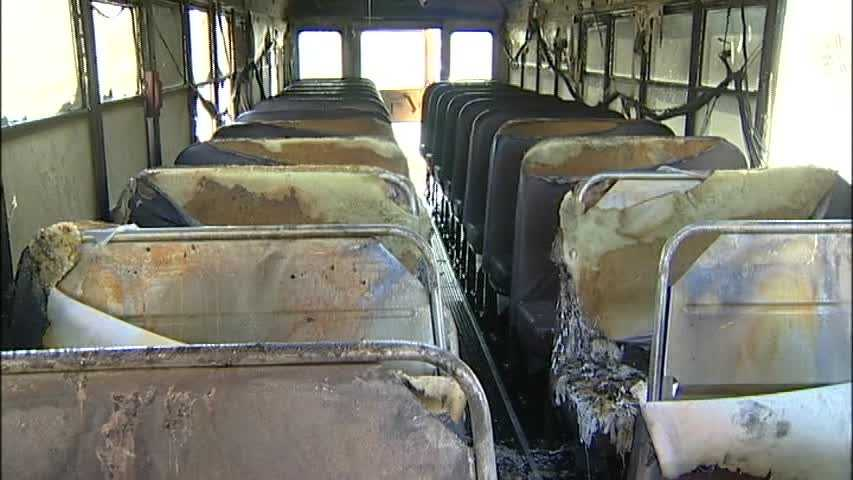 According to police officials on the scene, the bus was filled with students from the Bourne Middle School.