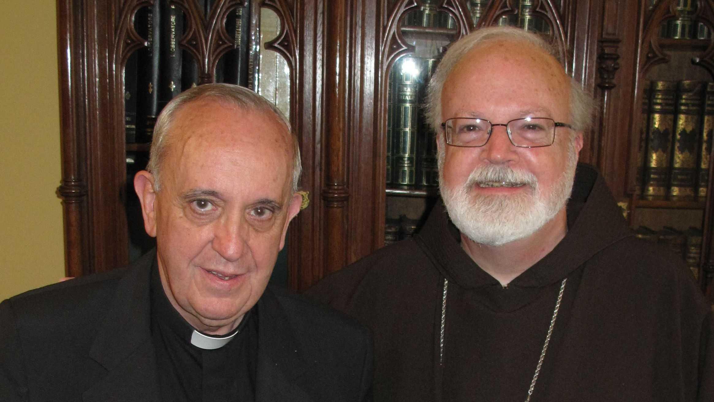 Cardinal Sean O'Malley Cardinal Jorge Bergoglio.jpg