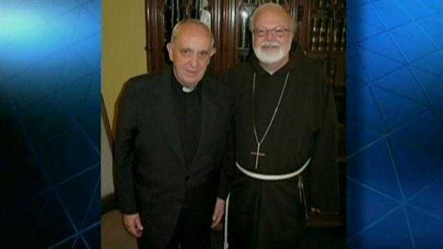 Boston Cardinal Sean O'Malley pledged his support to Pope Francis after the Argentinian cardinal was elected pope.