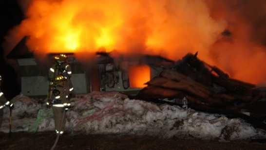 Buckfield Maine Mobile Home Fire