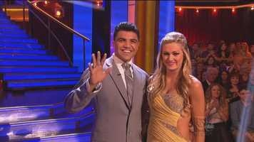 """Up next, professional boxer Victor Ortiz & Lindsay Arnold dance the Foxtrot to """"Daylight"""" by Maroon 5."""