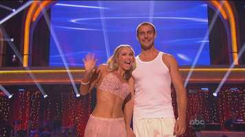 """Up next, General Hospital star Ingo Rademacher & Kym Johnson, with a contemporary dance to """"Yellow"""" by Coldplay."""