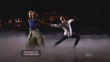 """Up next,6. Disney star Zendaya Coleman & Valentin Chmerkovskiy perform a contemporary dance to """"Feel Again"""" by One Direction"""