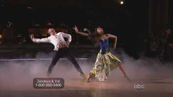 The dance seemed extremely polished and graceful from the very start. This couple will likely make it to the final three.