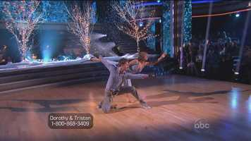 Bruno said the ice queen will melt him every time if she keeps doing routines like that.SCORES: 7, 7, 7 = 21 out of 30.
