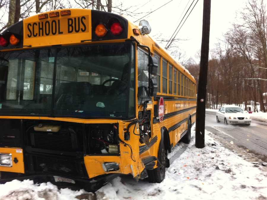Three students were taken to the hospital for what were called minor injuries following a school bus accident.