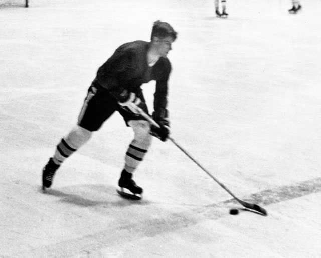 Bobby Orr tests his injured knee at Harvard's Watson Rink in Cambridge, Mass., Feb. 17, 1969. Orr twisted his knee Jan. 30, 1969 in Los Angeles and had been off the ice since.