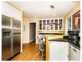 The home has modern appliances.