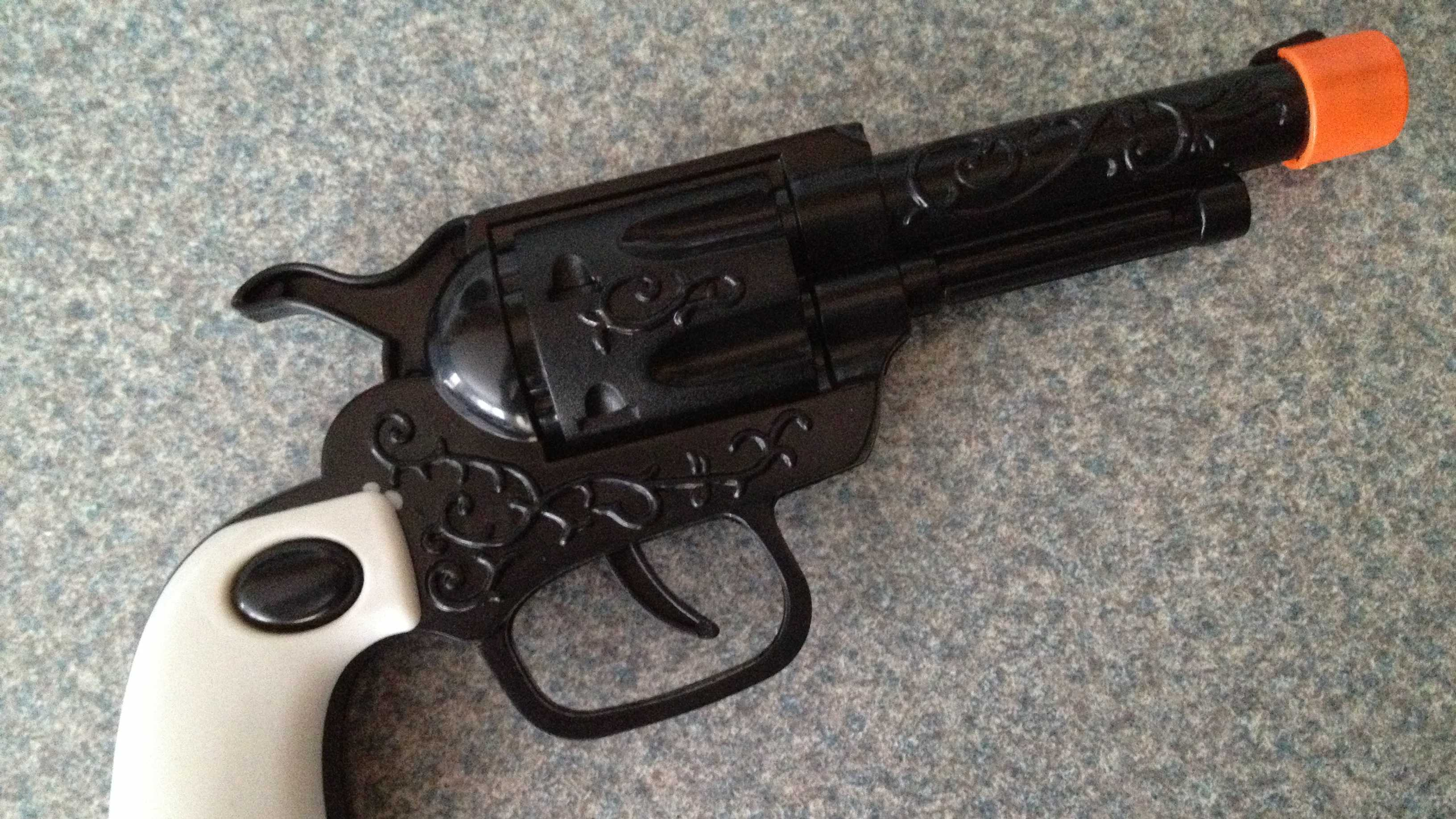The toy gun that Christina Krueger Stone's 5-year-old son brought to school.