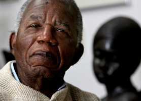 """Chinua Achebe was the internationally celebrated Nigerian author, statesman and dissident who gave literary birth to modern Africa with """"Things Fall Apart."""" For decades, Achebe penned novels, stories and essays to rewrite and reclaim the history of his native country. (16 November 1930 – 22 March 2013)"""