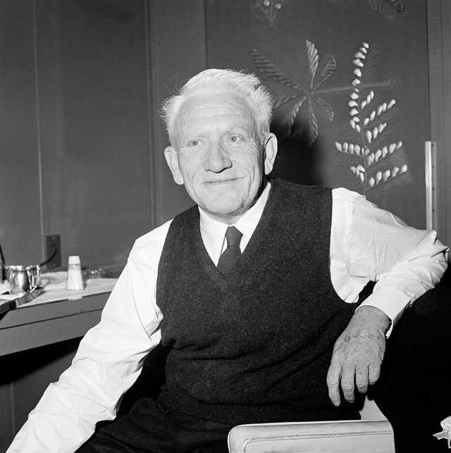 """Actor Spencer Tracy poses aboard the liner S.S. United States on its arrival Dec. 22, 1961 in New York. Tracy had just completed filming """"Judgement at Nurenburg."""""""
