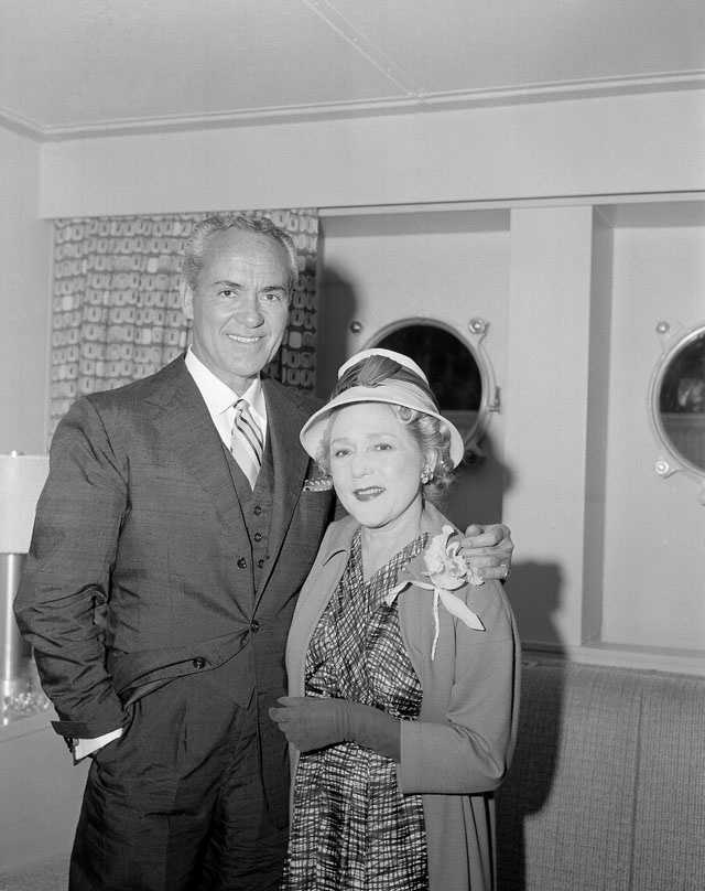 Mr. Charles (Buddy) Rogers and his wife actress Mary Pickford in New York on June 8, 1956 on the SS United States.