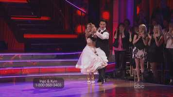 """Bruno said, """"Overall, you have the spirit, you have the speed and you have the attitude."""" Carrie Ann got into a heated argument with the other judges about Ingo's form during the quickstep."""