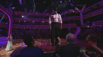 """Their Quick Step started off with D.L. standing on the judges table. D.L. said in rehearsals he kept envisioning the terrible """"4"""" score he received the previous week."""